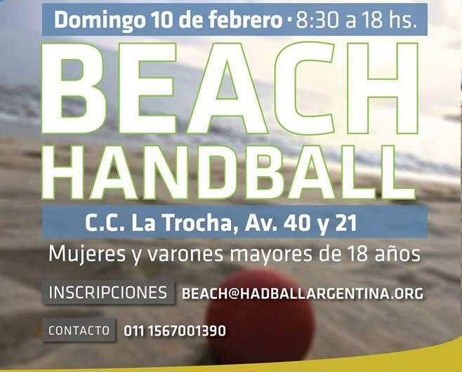 Se realizará una fecha de Beach Handball Summer Tour 2019 en nuestra ciudad