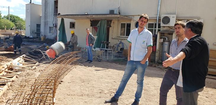 El Dr.Bandoni y el intendente Ustarroz recorrieron el avance de las obras del Hospital