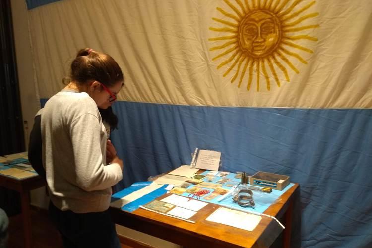 Veteranos de Malvinas expusieron objetos y recuerdos de la guerra