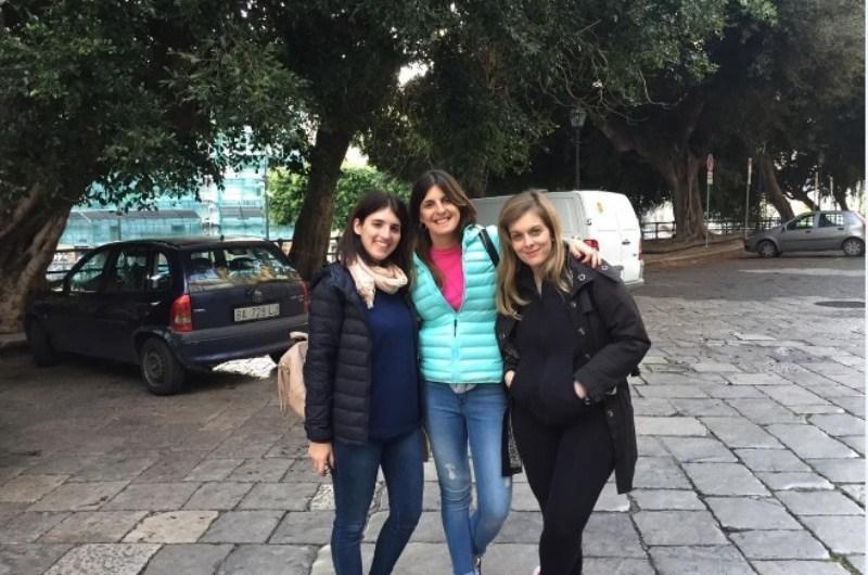 Emilia Mandaglio en el encuentro de jóvenes en Italia