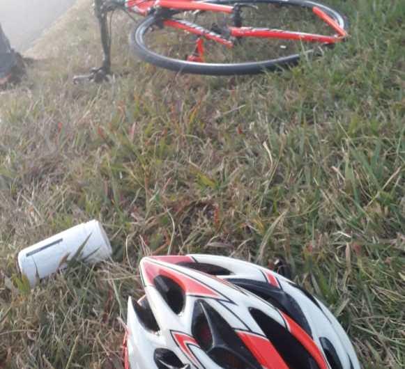 El ciclista Gino Tornesse sufrió un accidente en la Ruta 42
