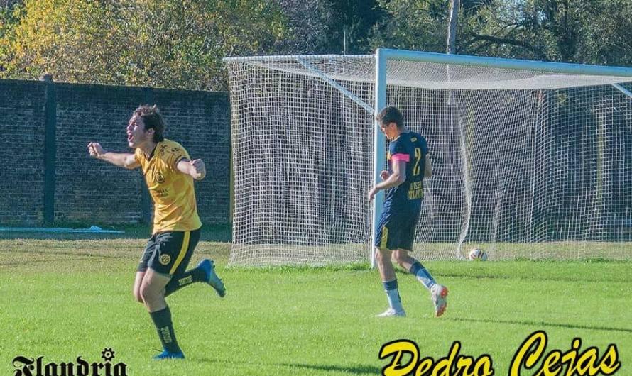 Gol de Pedro Cejas en la Reserva de Flandria, ante Atlanta