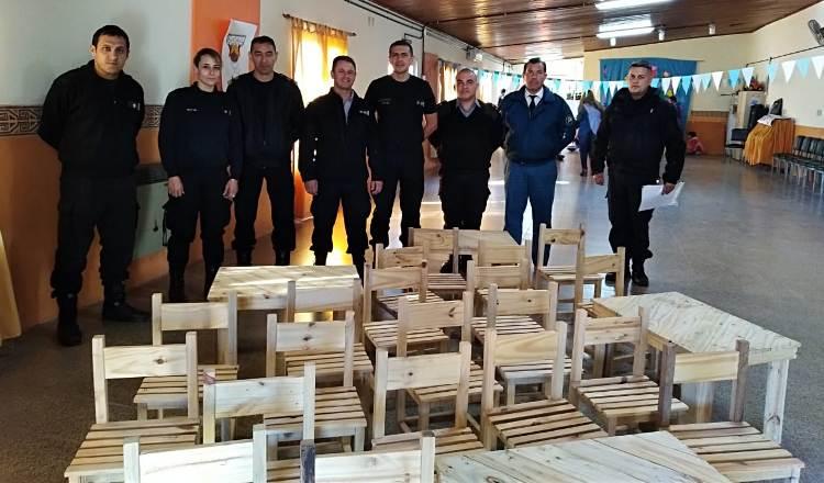 El Jardín 902 recibe donación de mobiliario hecho en la cárcel