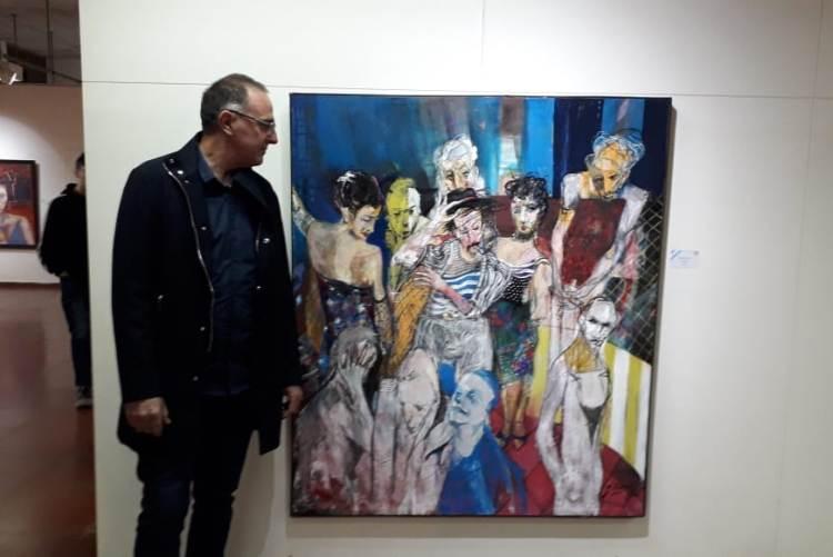 """Jorge Blanco: """"El cuadro es una pintura más relajada en su pincelada e integra la tiza y el grafito"""""""