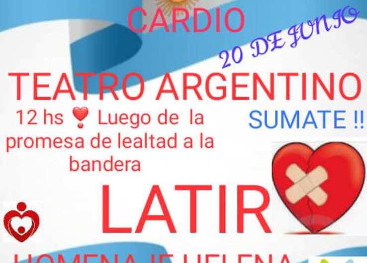 Banderazo cardio en el Teatro Argentino