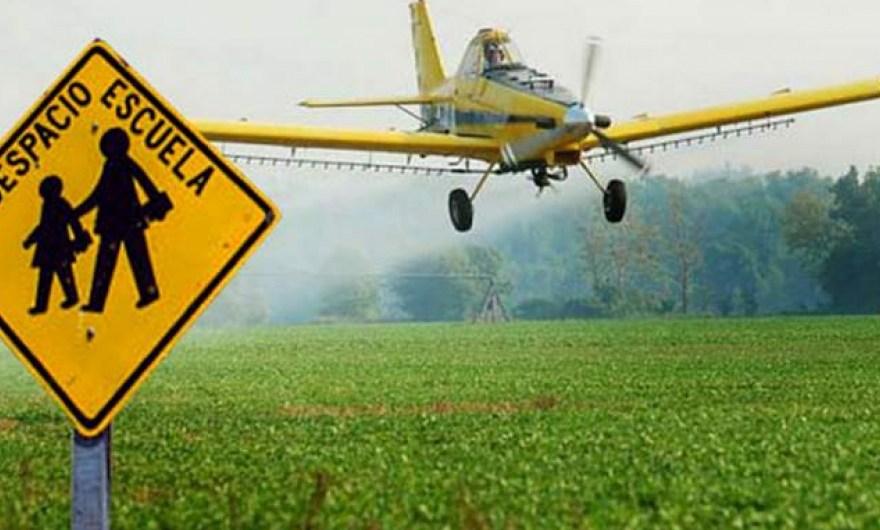 No a las fumigaciones con agro tóxicos desde avionetas