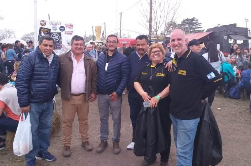 José Ibarra del gremio de conductores de taxis presente en la fiesta