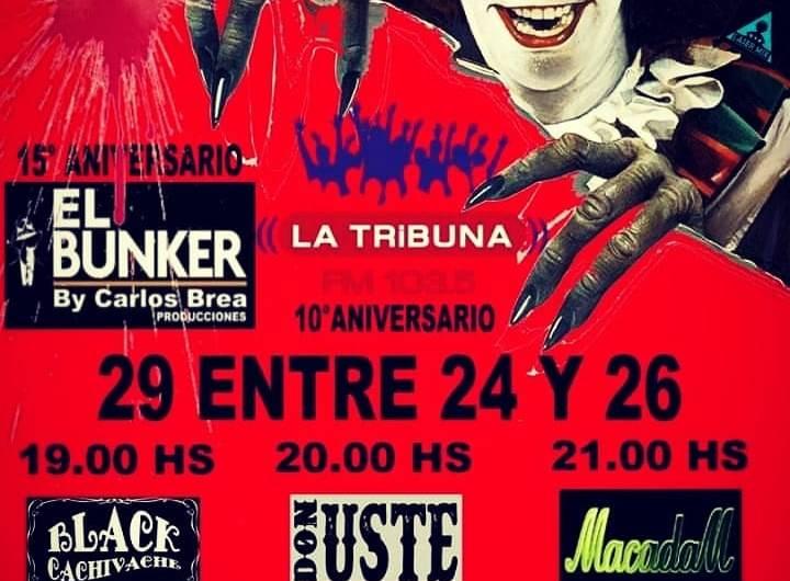 Festival de rock en el aniversario de FM La Tribuna y El Bunker