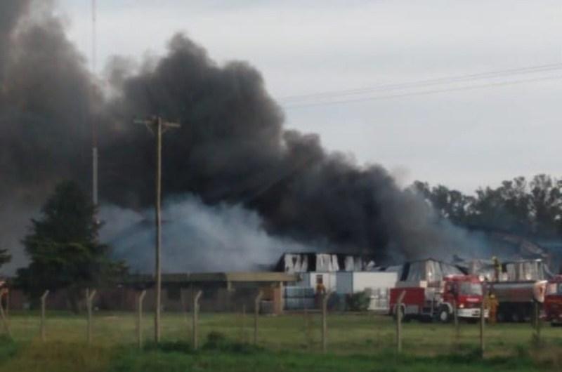 Incendio en Agroquimica de La Verde
