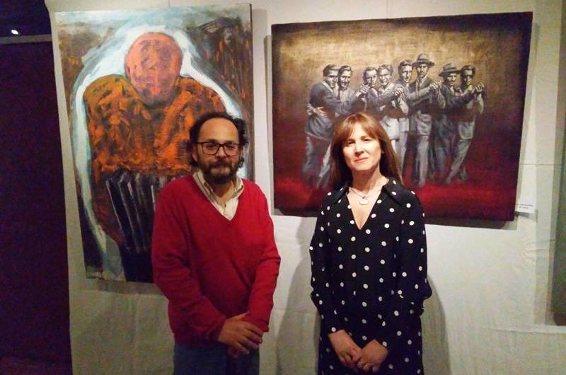 Dos Mundos que se unen en las pinturas de Marcela Cueto y César Lalla