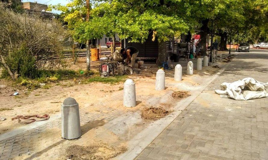 Siguen jerarquizando calle 8 y plaza de Estación Sarmiento