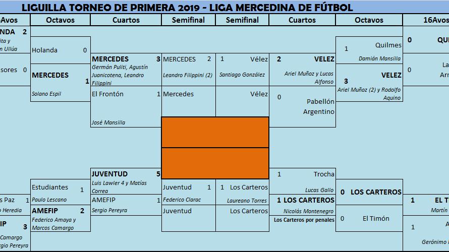 Martes y miércoles de semifinales en la Liga Mercedina en Primera División