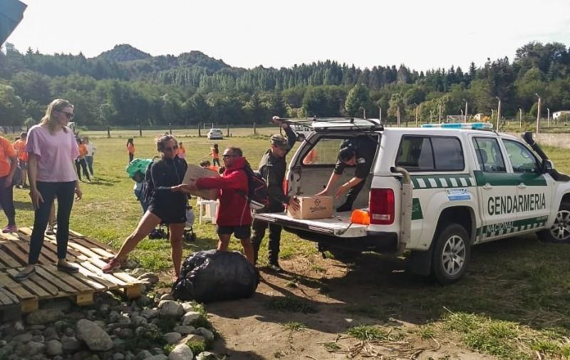 All Boys Solidario entregó donaciones en comedores de Bariloche