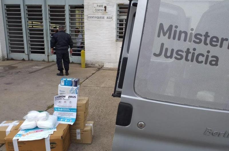 Coronavirus: Entregan materiales sanitarios de cárceles bonaerense