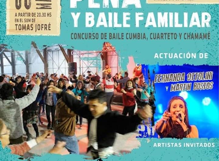 Mujeres Camperas invitan a baile y peña familiar