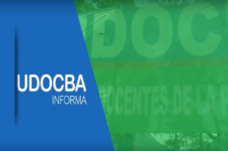 UDOCBA pidió la suspensión de las clases