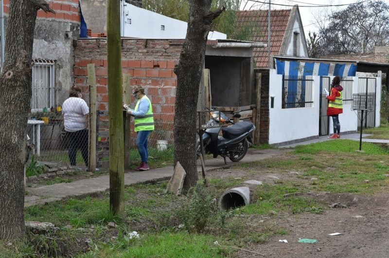 Operativo de relevamiento en el barrio Facundo Quiroga
