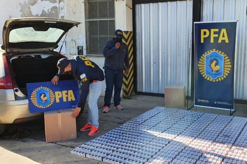 Policía Federal incautó cigarrillos adulterados