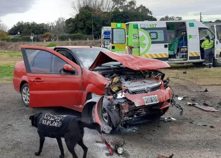 Ruta 5: Heridas leves tras una colisión entre dos autos