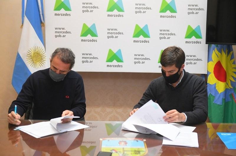 Municipio firma convenio con infraestructura nacional
