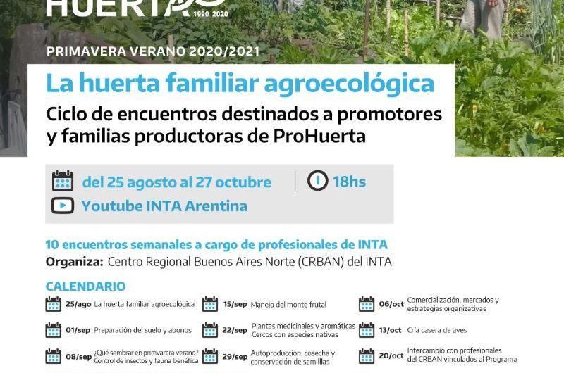 INTA inicia ciclo de encuentros para huertas agroecológicas familiares