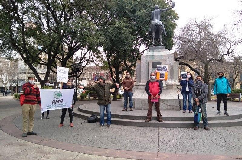 Ambientalistas locales se manifestaron contra la instalación de granjas industriales de cerdos