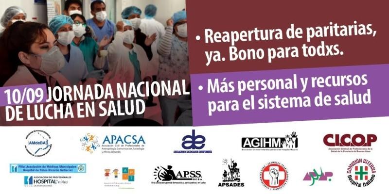 Médicos bonaerenses tendrán jornada de lucha este jueves 10