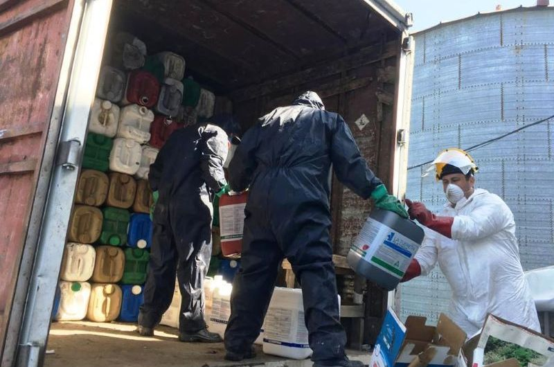 Logran juntar más de 7 mil unidades de envases vacíos de fitosanitarios en una jornada