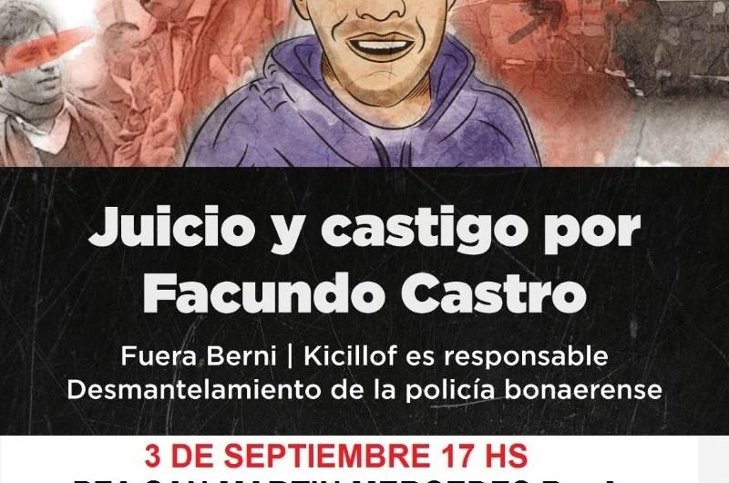 Partido Obrero convoca a Plaza San Martín con el pedido de justicia por Facundo
