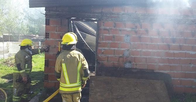 Incendio en casa de 26 bis entre 63 y 65