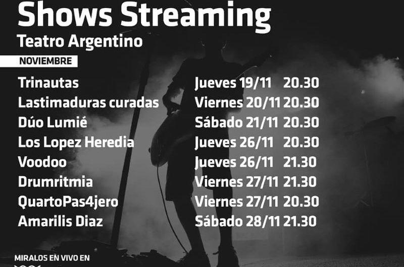 Agendá los espectáculos musicales vía streaming