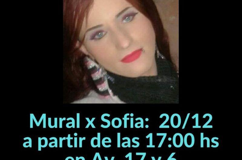 Con un mural recordarán a Sofía Santillán