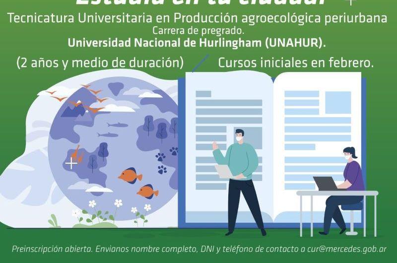 Preinscriben para Tecnicatura en Producción Agroecológica Periurbana