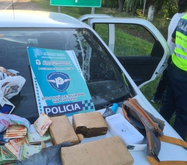 Ruta 5: Detienen a tres hombres con drogas