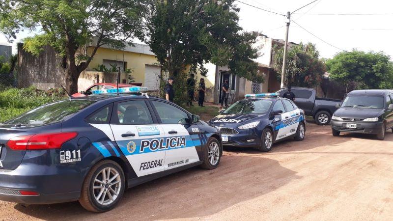 La Policía Federal de Mercedes realizó allanamientos por drogas