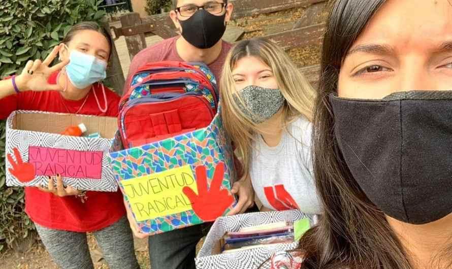 La Juventud Radical retomó la campaña «La Vuelta al Cole»