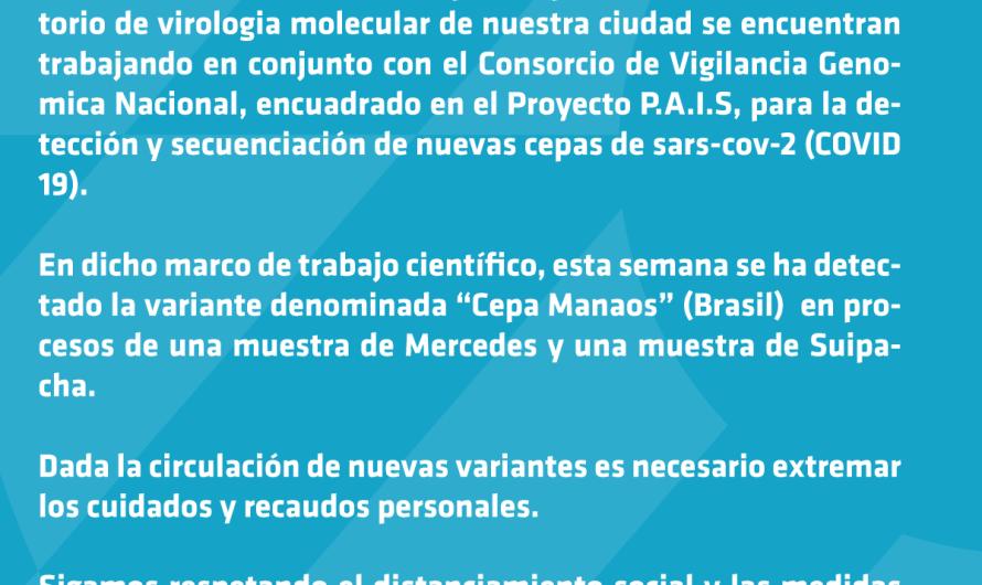 Alerta: detectan Cepa Manaos en una muestra de Mercedes y una de Suipacha