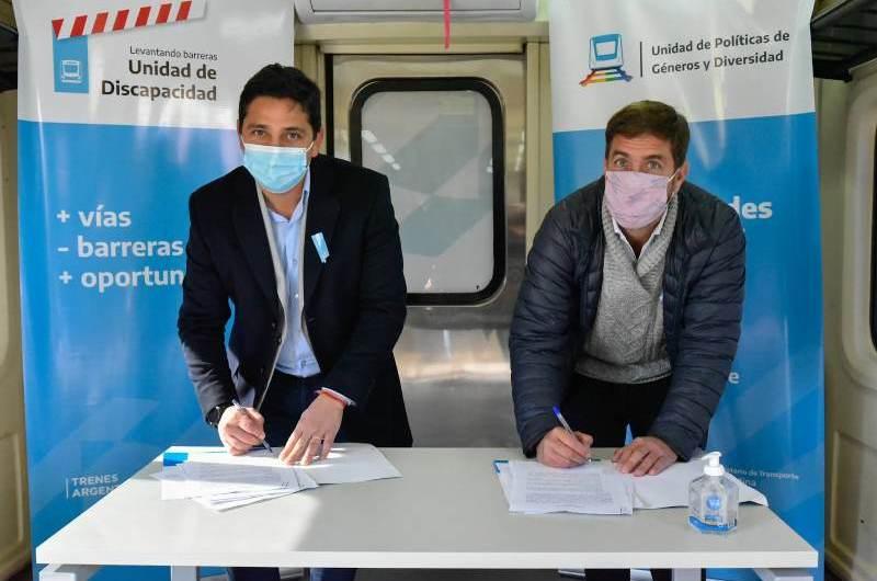 Municipio firma convenio con Trenes Argentinos por obras en la estación del Sarmiento