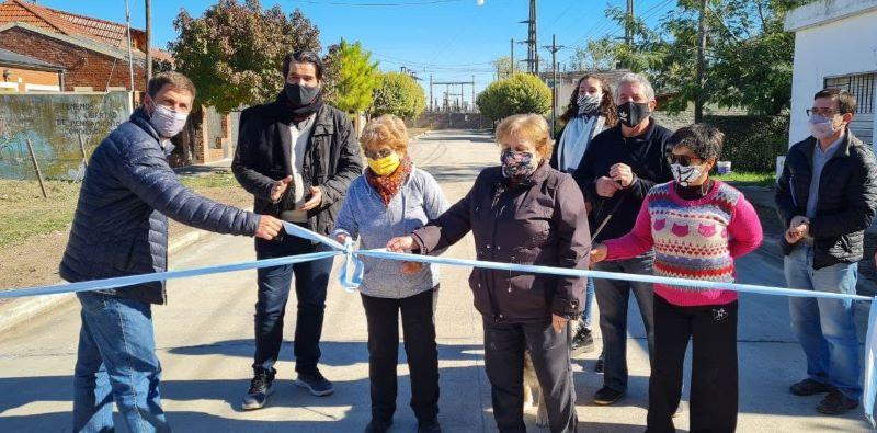 Terminaron asfalto en el Barrio Seminario