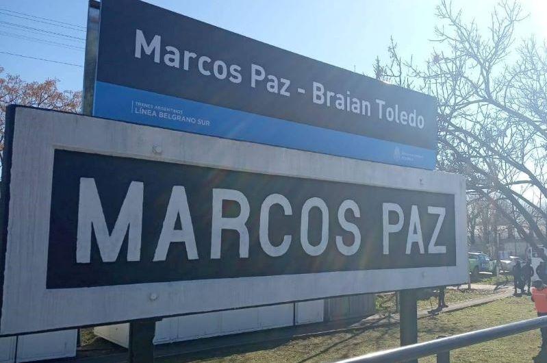 El Belgrano Sur llegó a Marcos Paz