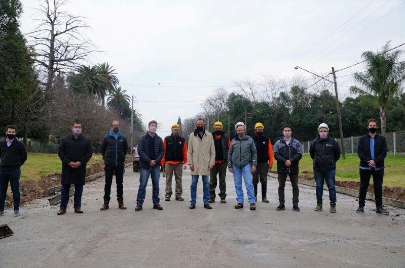 Funcionarios nacionales recorrieron obras de pavimentación