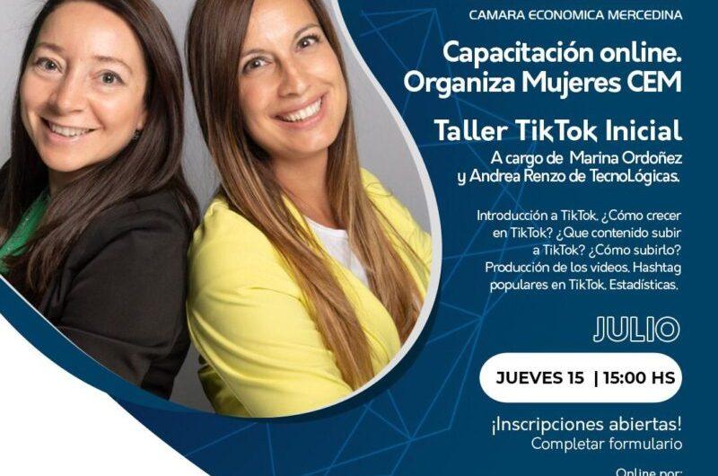 Mujeres CEM organiza taller virtual de Tik Tok para emprendedores