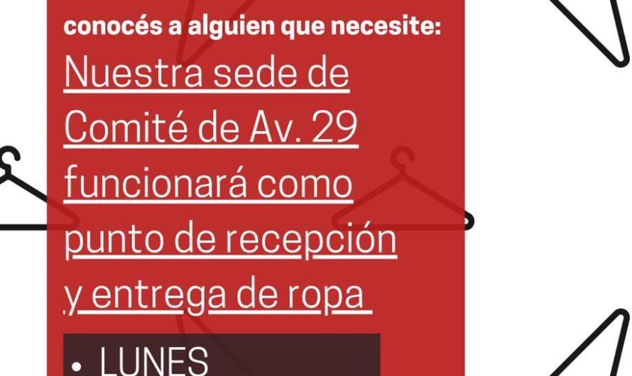 UCR Mercedes lleva adelante Ropero Solidario