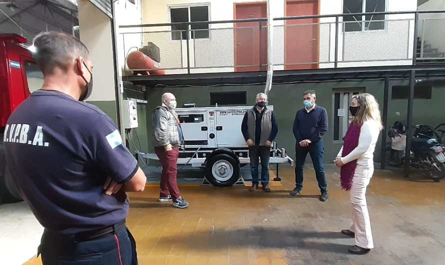 Concejales del PRO Mercedes visitaron a los Bomberos
