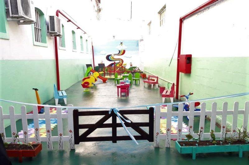En la Unidad 5 crean plaza para los niños que visitan a los internos
