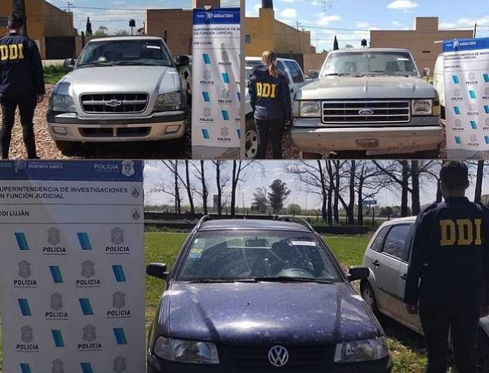 Dos detenidos y secuestro de mercadería y vehículos robados