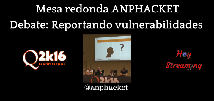Debate ANPHACKET en Qurtuba Security Congress