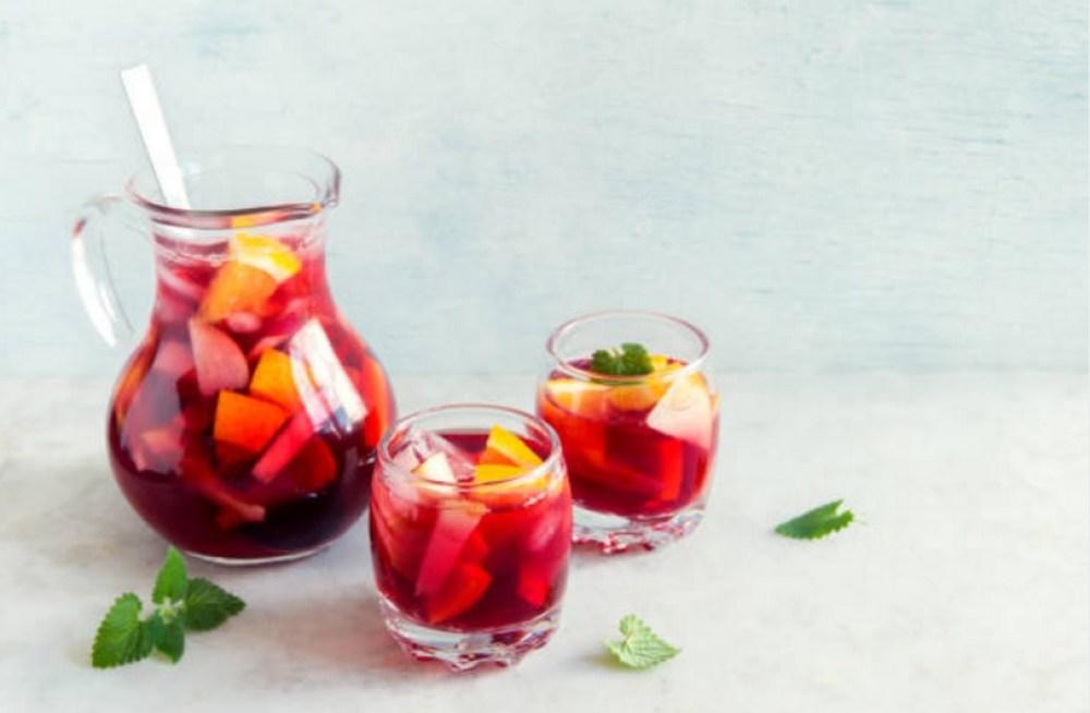 jarra sangria vaso vino