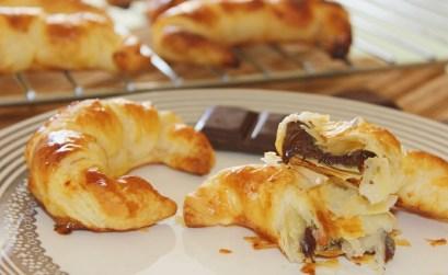 croissants de chocolate