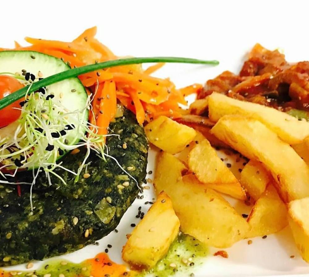 patatas plato vegano yerbabuena